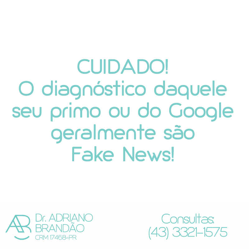 As Fake News da saúde!